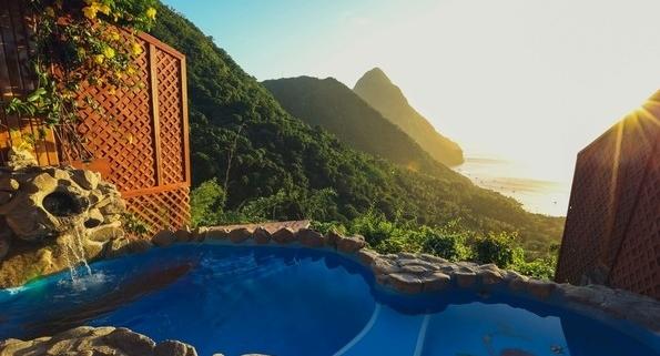 Destination Wedding Resort in St Lucia, Ladera Resort - Sunset-Travel.com